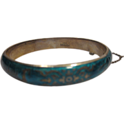 Sterling Silver Cloisonne Siam bracelet