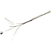 Vintage Dunlop Sterling Silver Swizzle Stick Made In England