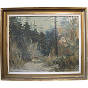Vintage Impressionist Oil on Board, Swedish, Framed and Signed