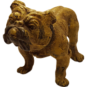 Vienna Bronze MOLD spelter Casting Painted Bulldog Figurine Paperweight or Shelf Piece