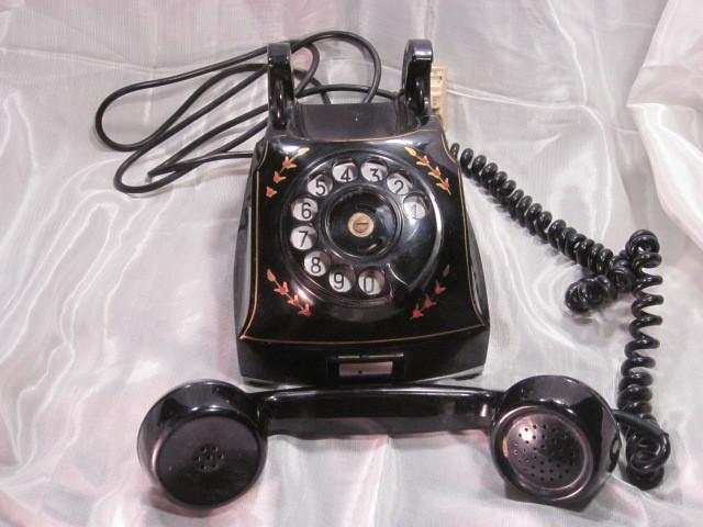 Vintage 1940 S Swedish Telegrafverket Rotary Phone With