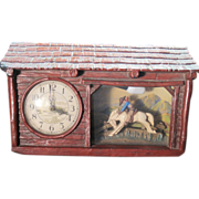 "Vintage, Haddon ""Ranch O"" Rocking Bronco Horse Clock, still working"