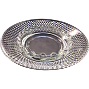Vintage Cut Round Glass Ash Tray