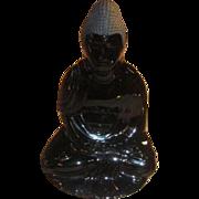 Baccarat Buddha Crystal Figurine-Midnight Blue
