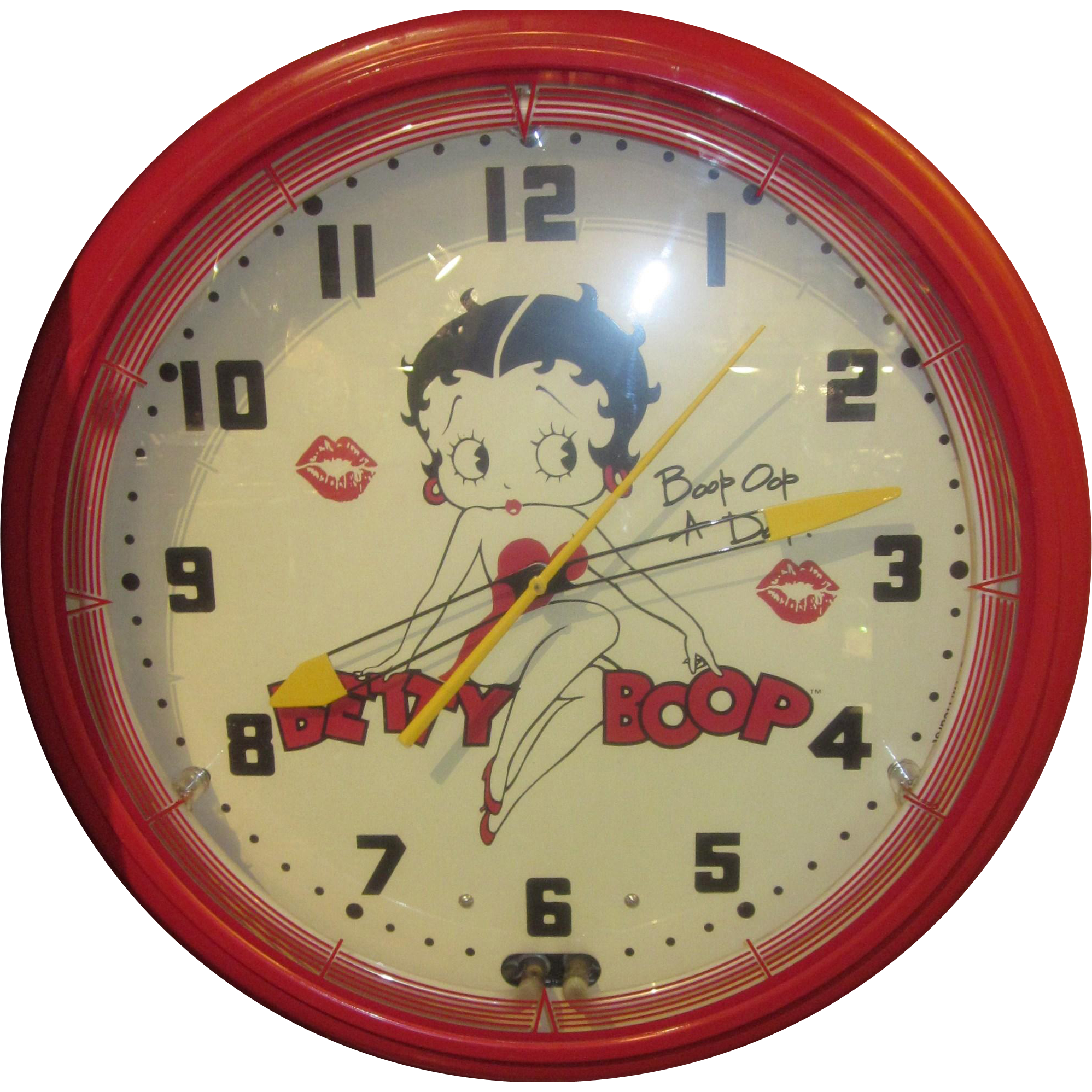Vintage Betty Boop Lit up Neon Clock
