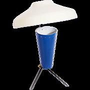 1950s Stilnovo Style Blue Table Lamp