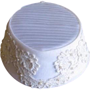 Vintage Bridal hat or cap by Miss Lillian for Vogue Bridals New York and Paris