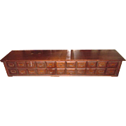 Multi Drawer Cabinet/Card Catalogue From Chicago Factory Warehouse c.  1900