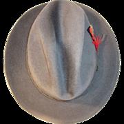 Vintage Men's Dark Gray Cartier Hat Signe Jolimarc Eleganza- Made in Canada