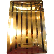 Vintage Art Deco Elgin Gold tone Cigarette Case/Lighter ready to personalize with monogram engraving