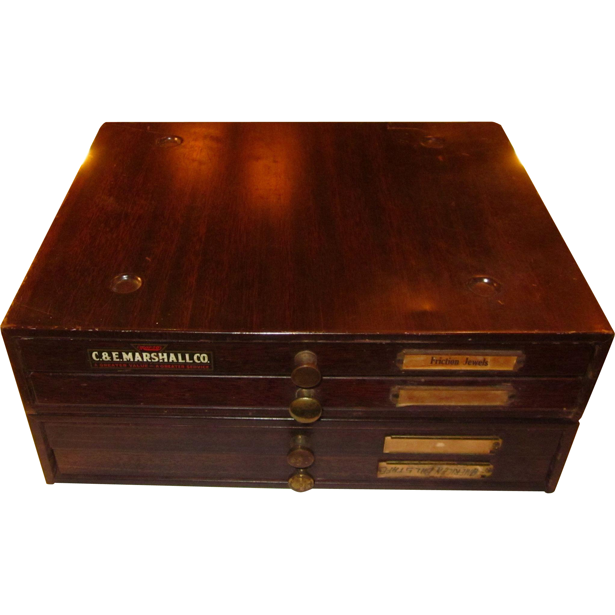 Vintage CM Marshall Watch Maker's Cabinet: Vintage Jewelry Box: 4-Drawer Cabinet: Watch Cabinet: