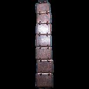 Vintage Astrological Copper Bracelet