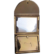 Vintage Gold tone metal Mirror and Powder Coty Signed Compact