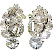 Eisenberg icy white rhinestone signed earrings