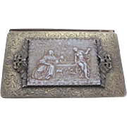 Vintage Evans Cigarette or business card holder Compact in gold tone