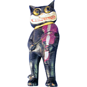 Vintage Celluloid Felix the Cat playing the fiddle