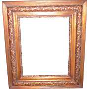 Antique Ornate Copper Tinted Wood Picture Frame