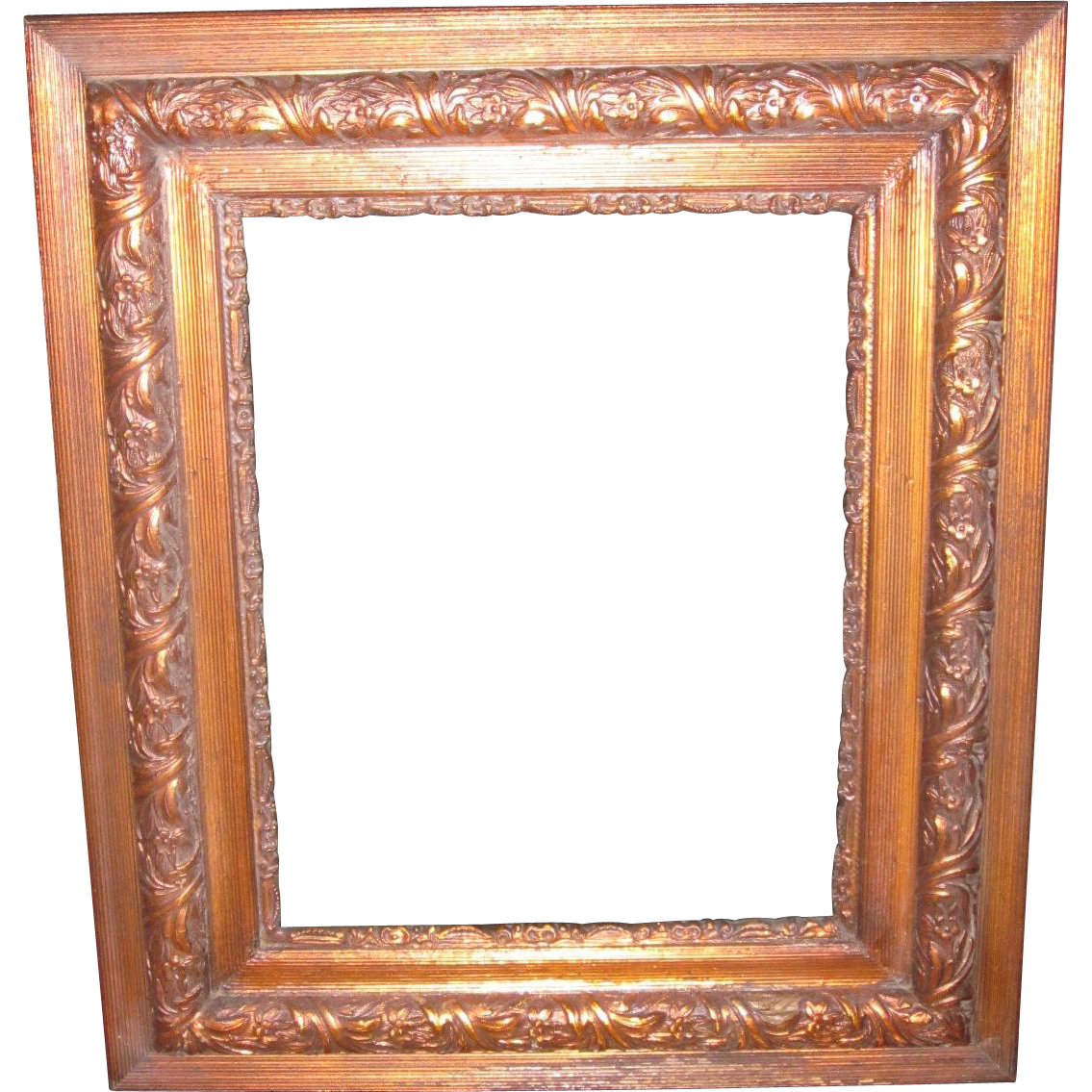 Antique Ornate Copper Tinted Wood Picture Frame : The Lazy Dog ...