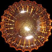Mid Century Modern Gold or Amber Blenko Heavy Glass Ash tray - 1960s-Tobacciana