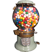 Vintage Star Penny Columbus Gumball Machine~It Works! MADE IN USA!!