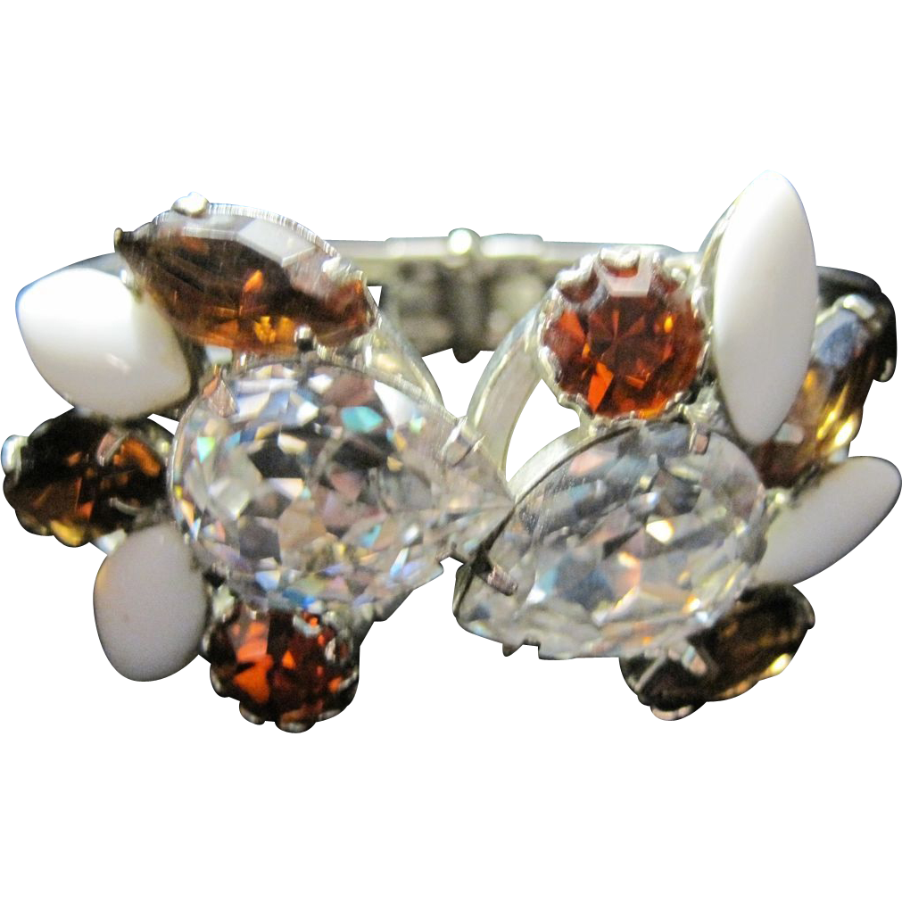 Juliana Sparkling Hinged Clamper Bracelet