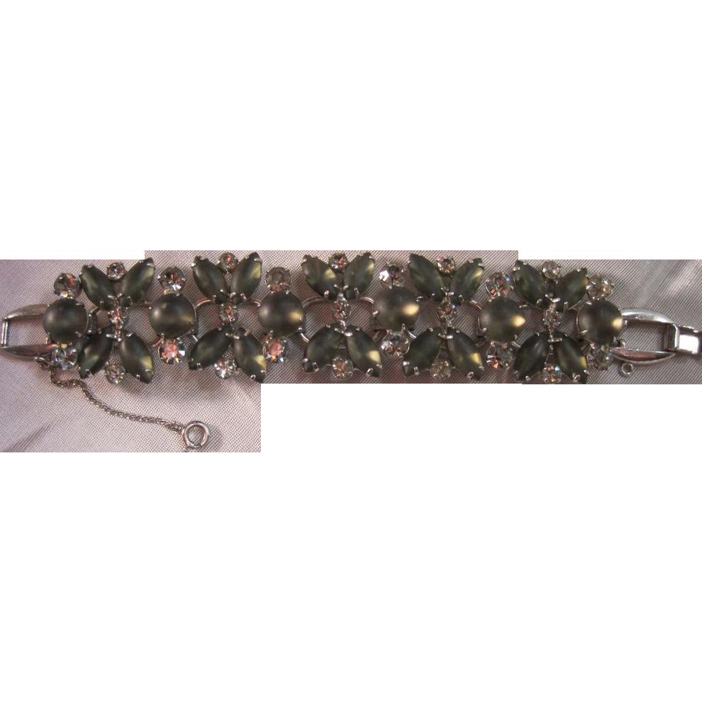 D&E Juliana smokey grey cabochon navette bracelet