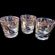 Vintage Mardi Gras Rocks Glasses-Set of 3