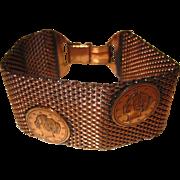 Vintage Mesh Coin Bracelet