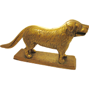 Antique Brass Nutcracker Dog