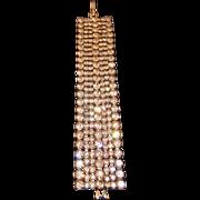 Vintage Stunning Sparkly 7-Row Wide Rhinestone Bracelet