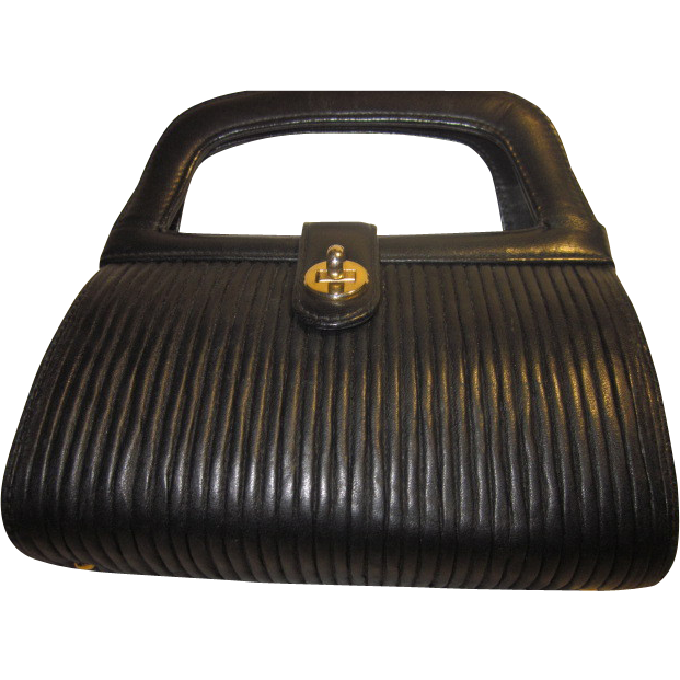 Vintage  Leather Handbag by Tano