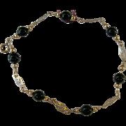 Victorian style 14kt GF and Onyx bracelet