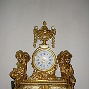 A Giant French Napoleon III & Gilt Brass/Bronze Mantel Clock period C1860.