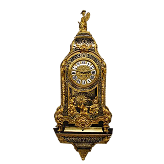 A MASSIVE French period 1880 gilt,- black/brown tortoiseshell boulle bracket Clock