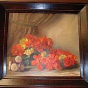 Original Framed Flemish Oil Painting: J Van der Maele 1940s