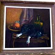 SPRING  SALE Item: Spoils of the Hunt Still Life Painting by   Flemish Artist JP Van Der Maele