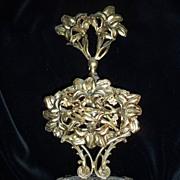 Vintage Art Nouveau style Wrought Brass Perfume Bottle