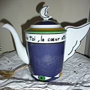 Limoges Teapot designed by  French Fashion Icon Jean Charles Castelbajac