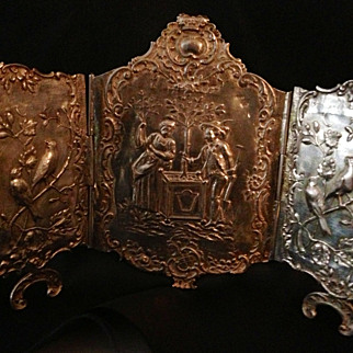 Antique Ornate Silver Table Screen  SPRING  SALE ITEM