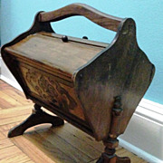 Antique Victorian Sewing Chest Stand with carrying handle
