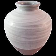 Malcolm Pepper (British 1937-1980) Studio Pottery Large Hakame Glazed Jar