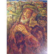 """Misha Levin (Russian b1986) """"The Prophet Isaiah"""" Oil on Canvas"""