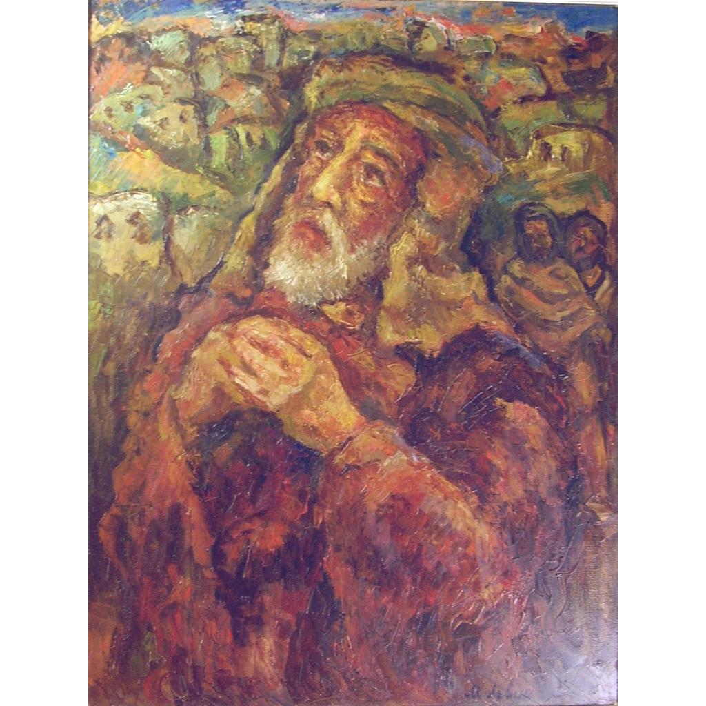 Misha Levin Russian B1986 The Prophet Isaiah Oil On