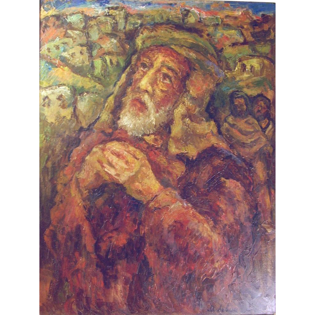 "Misha Levin (Russian b1986) ""The Prophet Isaiah"" Oil on Canvas"