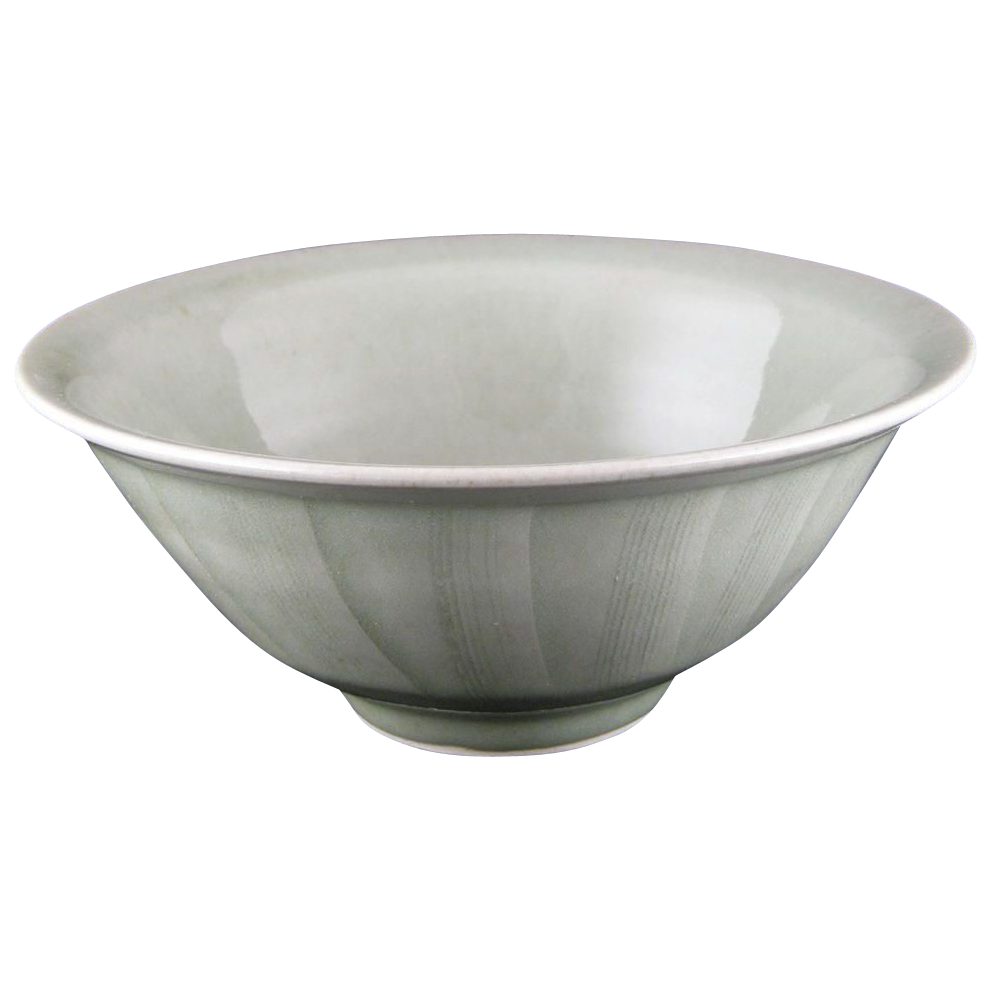 David Frith (British b.1943) Studio Pottery Celadon Glazed Bowl