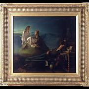 "George H Hay, RSA RSW (British / Scottish 1831-1913) Victorian ""The Student's Dream"" (1857) Oil on Canvas"