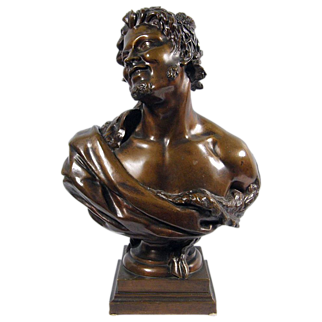 19th Century French Bronze Bust of a Satyr