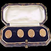 Antique 9k kt 9 Karat Carat Gold Cufflinks Cuff Links