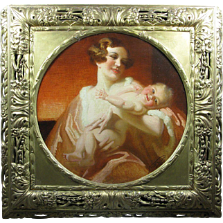 Francis Owen Salisbury (1874-1962) The Joy of Motherhood Oil