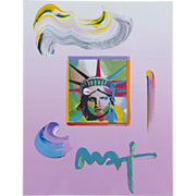 Peter Max (American b.1937) Liberty Head (2009) Original Mixed Media